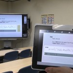 Electronic whiteboard and iPads